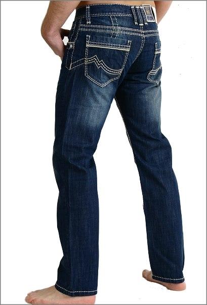jeans rusty neal mit wei er naht modell 8323 6 herrenjeans. Black Bedroom Furniture Sets. Home Design Ideas