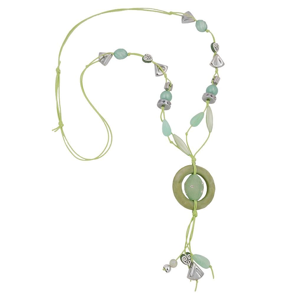 Kette, Ring oliv, Perlen mint-grün - Schmuck-01159, 33,82 €
