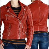 Lederjacke Perfecto, Damenjacke von Gipsy in red