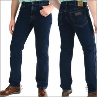 Wrangler Texas blue black, gerade Jeans in blue black